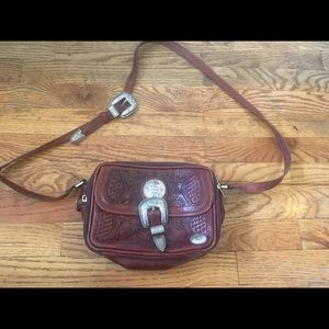 Western vintage leather purse